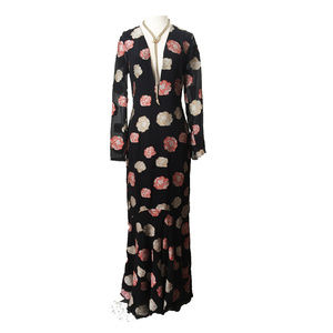Nicole Miller Collection Floral Maxi Dress